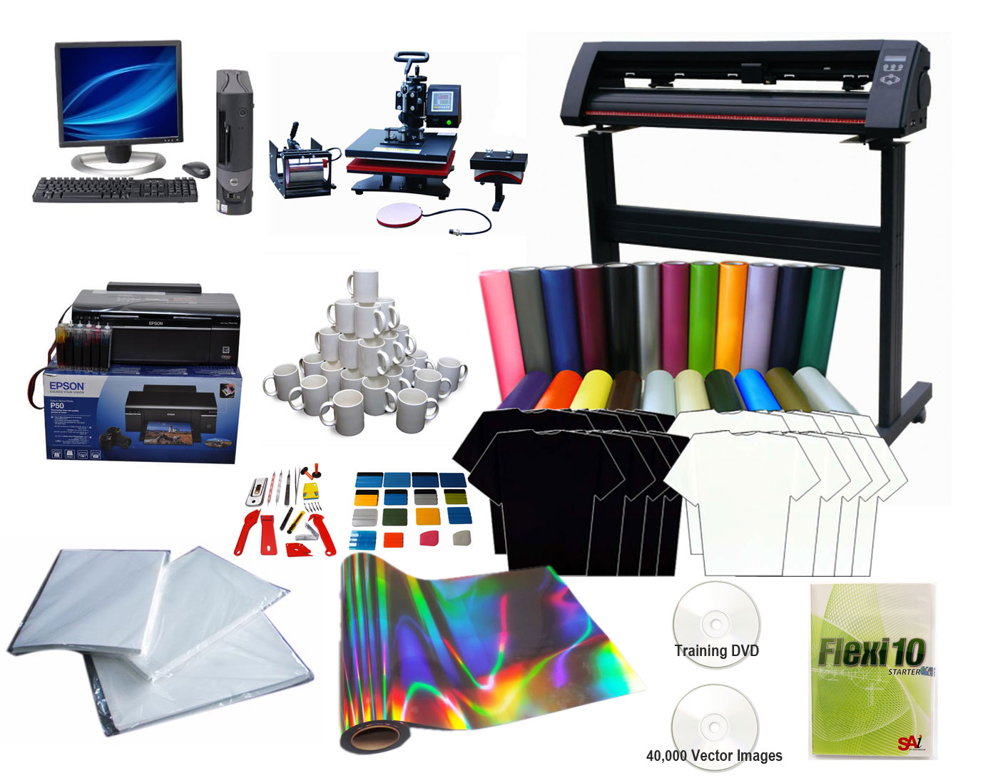 Advanced T Shirt Printing Vinyl Cutter Amp Heat Press