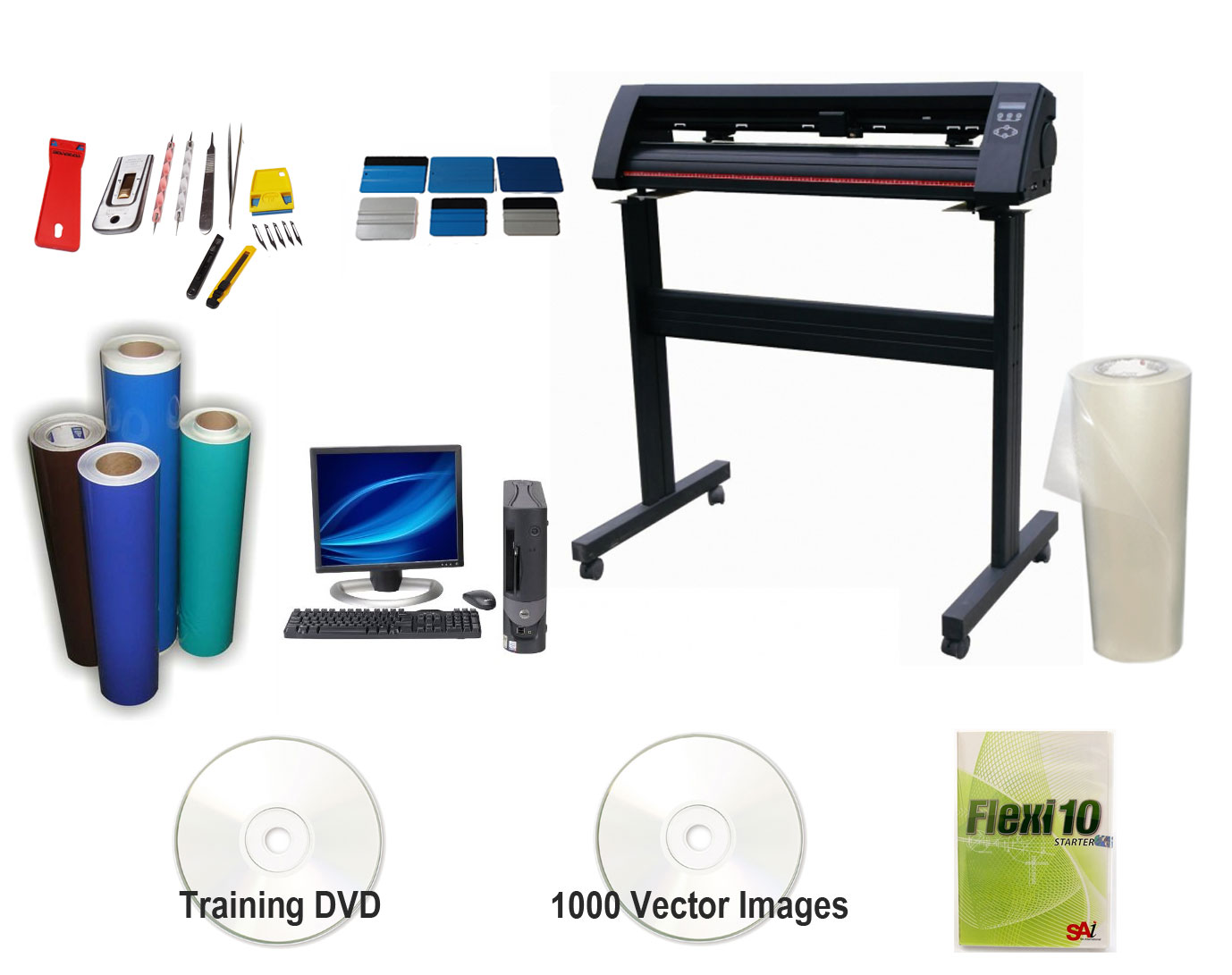 Airbrush and Stencil Making Cutter Plotter Package