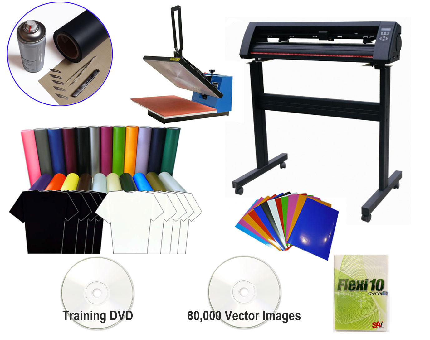 T Shirt Making Vinyl Cutter Amp Heat Press Package Package